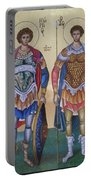 Saint George And Saint Dimitrios Portable Battery Charger