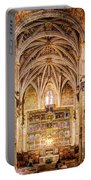 Saint Isidore - Romanesque Temple Altar And Vault - Vintage Version Portable Battery Charger