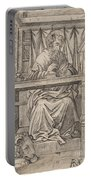 Saint Jerome In His Study Portable Battery Charger