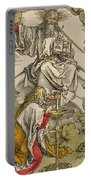 Saint John On The Island Of Patmos Receives Inspiration From God To Create The Apocalypse Portable Battery Charger