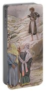 Saint John The Baptist And The Pharisees Portable Battery Charger by Tissot
