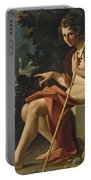 Saint John The Baptist In A Landscape Portable Battery Charger