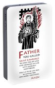 Saint Lawrence Prayer Portable Battery Charger