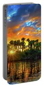 Saint Lucie River Sunset Portable Battery Charger