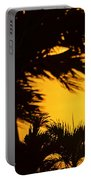 Saint Martin Sunset Through The Palm Trees Portable Battery Charger