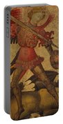 Saint Michael And The Dragon Portable Battery Charger