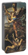 Saint Michael Overwhelming The Demon Portable Battery Charger