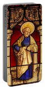 Saint Peter  Stained Glass Portable Battery Charger