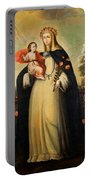 Saint Rose Of Lima With Child Jesus Portable Battery Charger