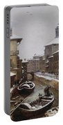 Saint Sophia Canal Covered In Snow Portable Battery Charger