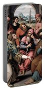 Saint Stephen In The Synagogue Portable Battery Charger