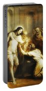 Saint Thomas Touching Christ's Wounds Portable Battery Charger
