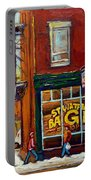Saint Viareur And Park Avenue Bagel Shop Portable Battery Charger
