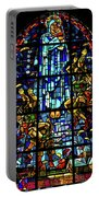 Sainte-mere-eglise Paratrooper Tribute Stained Glass Window Portable Battery Charger