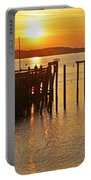 Salem Ma Fishing At Sunrise Sunny Portable Battery Charger