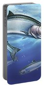 Salmon Painting Portable Battery Charger