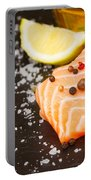 Salmon Steak And Spices Portable Battery Charger