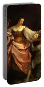 Salome With The Head Of St John Baptist 1640 Portable Battery Charger