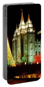 Salt Lake Temple Christmas Tree Portable Battery Charger by La Rae  Roberts