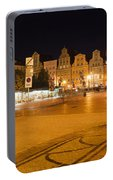 Salt Square In Wroclaw At Night Portable Battery Charger