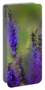 Salvia May Night Art -purple Modern Abstract Art Portable Battery Charger