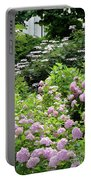 Pink Hydrangeas In Mirabell Garden Portable Battery Charger
