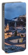 Salzburg Skyline At Twilight Portable Battery Charger