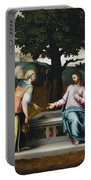 Samaritan Woman At The Well Portable Battery Charger