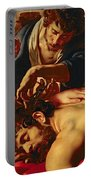 Samson And Delilah Portable Battery Charger by Rubens