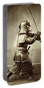 Samurai With Raised Sword Portable Battery Charger by F Beato