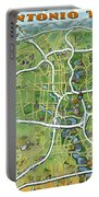 San Antonio Texas Cartoon Map Portable Battery Charger