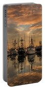 San Diego Fishing Fleet At Sunset Portable Battery Charger