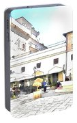 San Felice Circeo Bar And Fountain In The  Square Portable Battery Charger