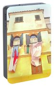 San Felice Circeo Building With The Put Clothes Portable Battery Charger