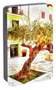 San Felice Circeo Olive Tree In The Square Portable Battery Charger