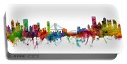 San Francisco And Pittsburgh Skylines Mashup Portable Battery Charger