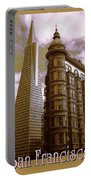 San Francisco Architecure Poster Portable Battery Charger