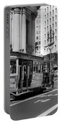San Francisco Cable Car During Wwii Portable Battery Charger