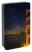San Francisco City Skyline Through Golden Gate Bridge Portable Battery Charger