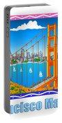 San Francisco Marathon Panorama Portable Battery Charger