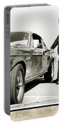 San Francisco Museum Of Art, Frank Bullitt, Steve Mcqueen, Ford Mustang Gt 390, Fastback Portable Battery Charger