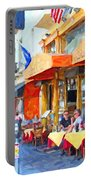San Francisco North Beach Outdoor Dining Portable Battery Charger