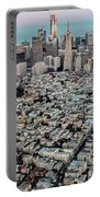 San Francisco Skyline And Coit Tower Portable Battery Charger