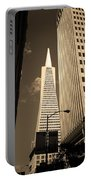 San Francisco - Transamerica Pyramid Sepia Portable Battery Charger