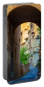 San Gimignano Archway Portable Battery Charger by Inge Johnsson