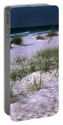 Sand Beach And Grass Portable Battery Charger