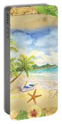 Sand Sea Sunshine On Tropical Beach Shores Portable Battery Charger