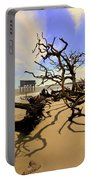Sand Sun Beach And Little Blue Portable Battery Charger by Lisa Wooten