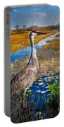 Sandhill Crane In The Glades Portable Battery Charger