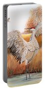 Sandhill Cranes-jp3163 Portable Battery Charger